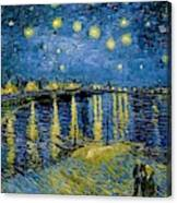 Starry Night - Digital Remastered Edition Canvas Print
