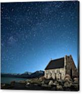 Stars And Midnight Blue Canvas Print