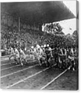 Start Of 3,000 Meter Olympic Race Canvas Print