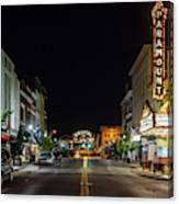 State Street With The Newly Lit Bristol Sign Canvas Print