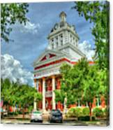 Stately Elegance Morgan County Court House Madison Georgia Art Canvas Print