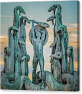 Statue Of Heracles The Hero Canvas Print