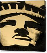 Statue Of Liberty In Dark Sepia Canvas Print
