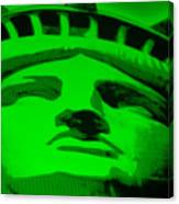 Statue Of Liberty In Green Canvas Print