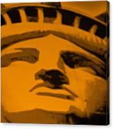 Statue Of Liberty In Orange Canvas Print