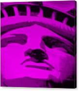Statue Of Liberty In Purple Canvas Print