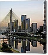 Stayed Bridge And Modern Sao Paulo Canvas Print