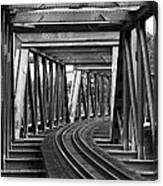 Steel Girder Railway Bridge Canvas Print
