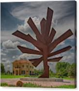 Steel Palm - Peace River Botanical And Sculpture Gardens Canvas Print