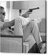 Steve Mcqueen Takes Aim Canvas Print