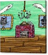 Stick Cats #1 Canvas Print