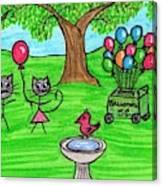 Stick Cats #7 Canvas Print