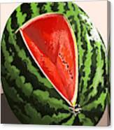 Still Life Watermelon 1 Canvas Print