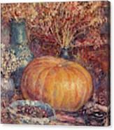Still Life With Pumpkin Canvas Print