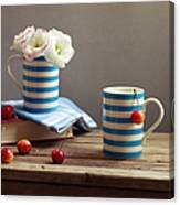 Still Life With Striped Cups Canvas Print