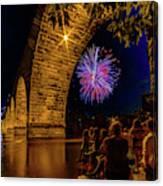 Stone Arch Bridge, July 4 Canvas Print