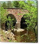 Stone Bridge At The Eastern Entrance Of The Manassas Battlefield  Canvas Print