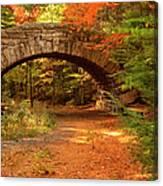 Stone Bridge, Part Of Carriage Roads Canvas Print