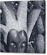 Stone Carving Of An African Woman Canvas Print