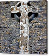 Stone Irish Cross Canvas Print