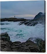 Storm At The Norwegian Coastline Canvas Print
