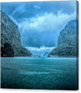 Storm Clouds Invade Ha Long Bay Blue Rain  Canvas Print