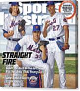 Straight Fire, 2016 Mlb Baseball Preview Issue Sports Illustrated Cover Canvas Print