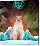 Stranded Polar Bear Canvas Print