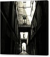 Street In Barcelona Canvas Print