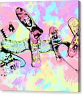 Street Sk8 Pop Art Canvas Print