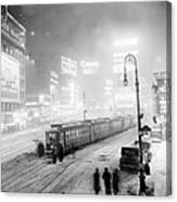 Streetcars Are Stuck At W. 45th St. In Canvas Print