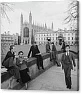 Students At Cambridge Canvas Print