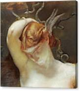 Study For The Gorgon And The Heroes Canvas Print