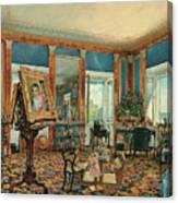Study In Palais Rasumofsky On Landstrasse In Vienna        Canvas Print