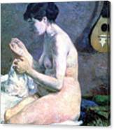 Study Of A Nude, 1880. Artist Paul Canvas Print