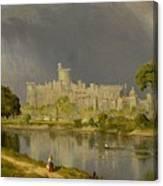 Study Of Windsor Castle Canvas Print