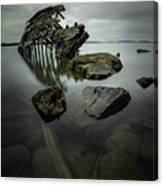 Sturgeon Bay Shipwreck In November Gloom Canvas Print