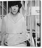 Suffragist Lucy Burns In Jail Canvas Print