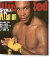 Sugar Ray Leonard, Middleweight Boxing Sports Illustrated Cover Canvas Print