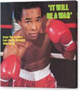 Sugar Ray Leonard, Welterweight Boxing Sports Illustrated Cover Canvas Print