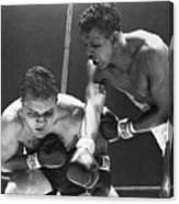 Sugar Ray Robinson Fighting Jake Canvas Print