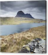 Suilven On A Stormy Day Canvas Print