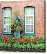 Summer Street Garden Canvas Print