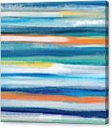 Summer Surf 3- Art By Linda Woods Canvas Print