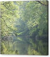 Summer Time River And Trees Canvas Print