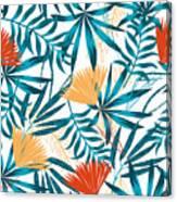 Summer Trend Seamless Background Canvas Print