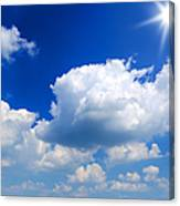 Sun And Clouds Canvas Print