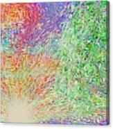 Sun Circles Earth Canvas Print