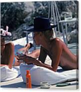 Sunbathing In Antibes Canvas Print