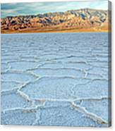 Sunrise At Badwater, Death Valley Canvas Print
